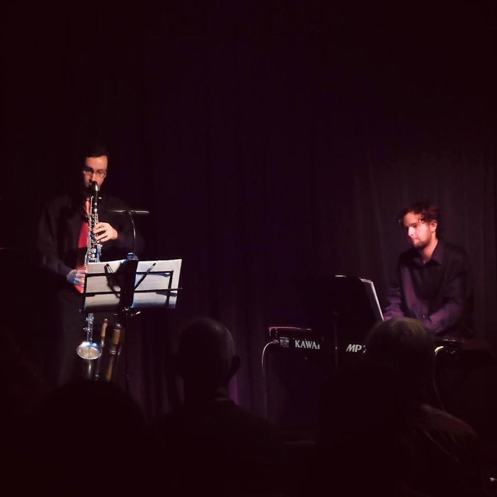 Callum Watson with Joel Hands-Otte