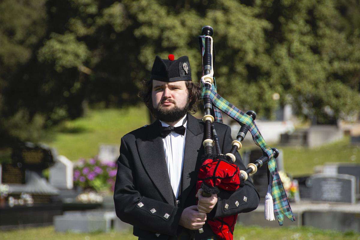 Callum Watson at Cemetery